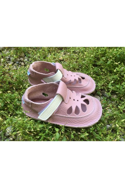 Baby bare shoes Summer perforation Candy