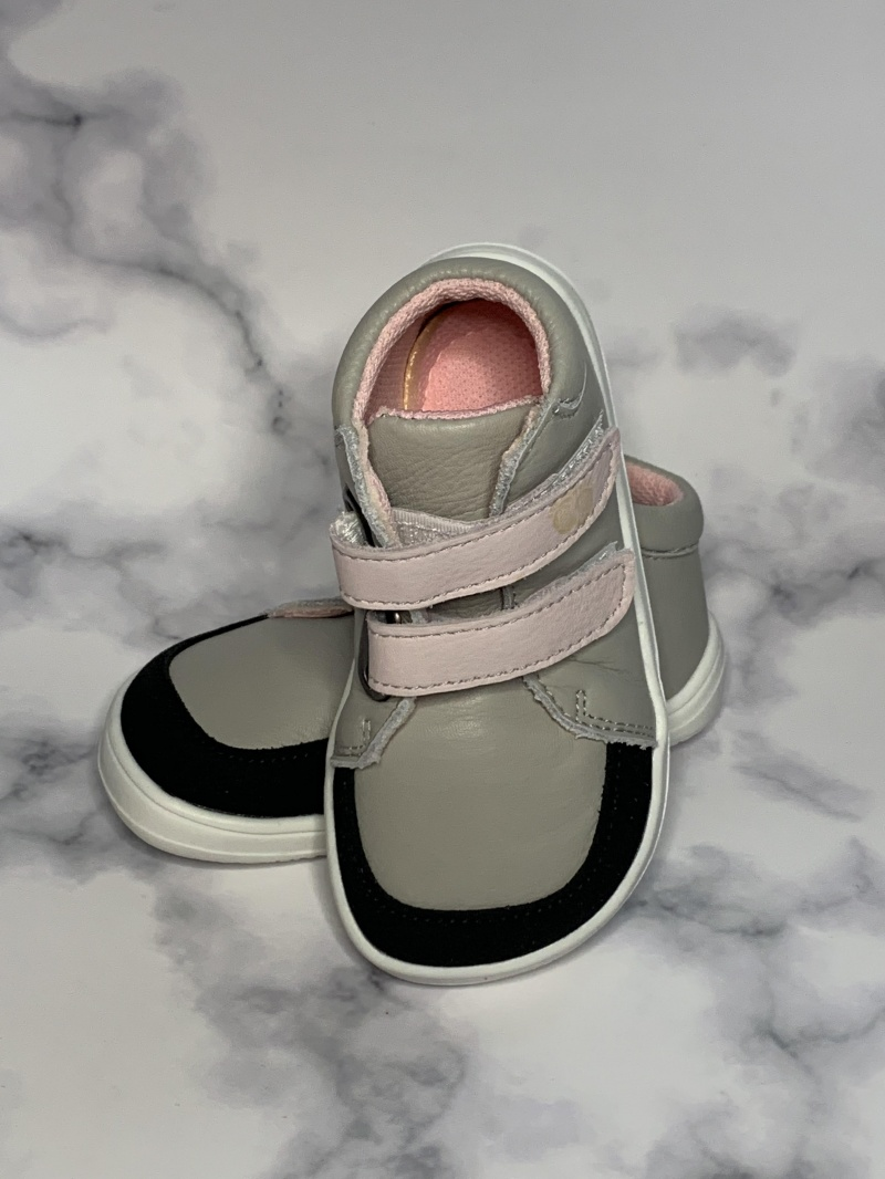 Baby Bare Shoes Febo jesen siva/roza